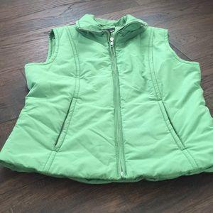 H&M green zip up vest